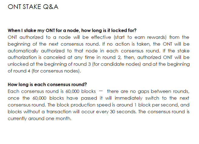 ONT Stake Q&A
